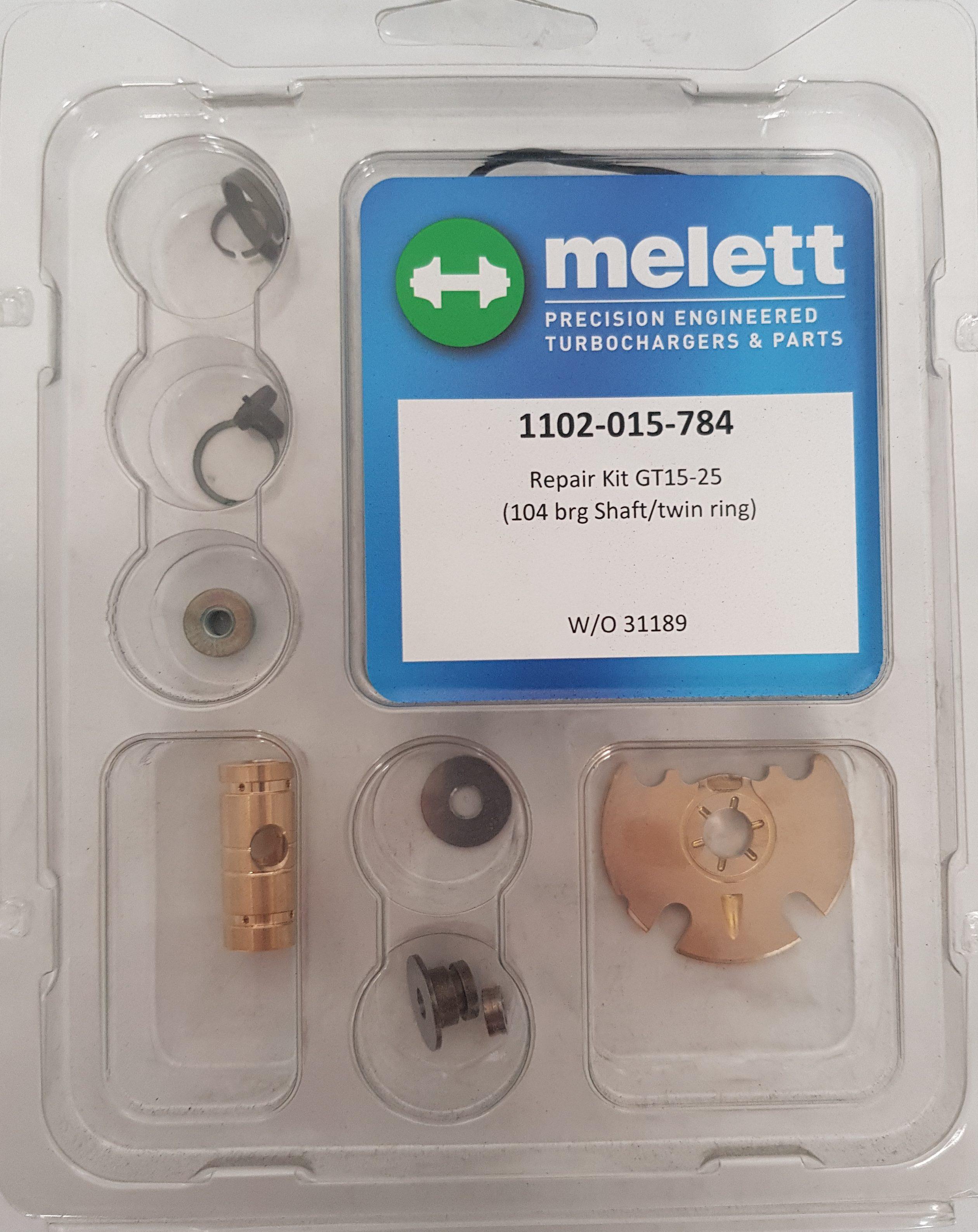 MERCEDES BENZ 1102-015-784 MELETT TURBOCHARGER TURBO REPAIR KIT FOR GARRETT  GTB15